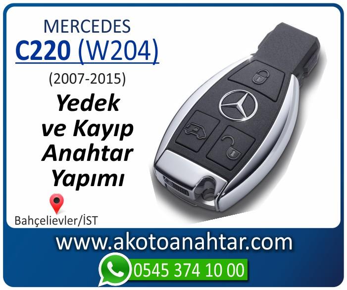 Mercedes C220 W204 Anahtari 2007 2008 2009 2010 2011 2012 2013 2014 - Mercedes C180 (W204) Anahtarı | Yedek ve Kayıp Anahtar Yapımı