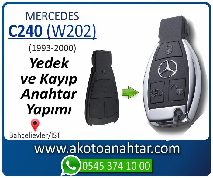 Mercedes C240 W202 Anahtari 1998 1999 2000 - Mercedes C240 (W202) Anahtarı | Yedek ve Kayıp Anahtar Yapımı