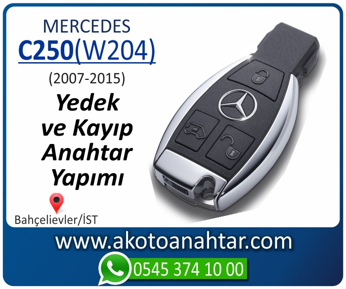 Mercedes C250 W204 Anahtari 2007 2008 2009 2010 2011 2012 2013 2014 - Mercedes C180 (W204) Anahtarı | Yedek ve Kayıp Anahtar Yapımı