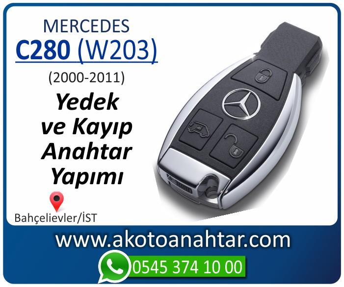 Mercedes C280 W203 Anahtari 2000 2001 2002 2003 2004 2005 2006 2007 2008 2009 2010 2011 - Mercedes C280 (W203) Anahtarı | Yedek ve Kayıp Anahtar Yapımı