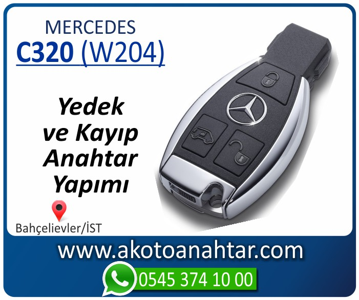 Mercedes C320 W204 Anahtari 2007 2008 2009 2010 2011 2012 2013 2014 - Mercedes C180 (W204) Anahtarı | Yedek ve Kayıp Anahtar Yapımı