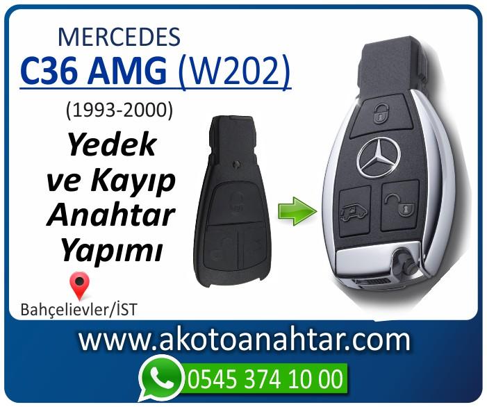 Mercedes C36 AMG W202 Anahtari 1998 1999 2000 - Mercedes C36 AMG (W202) Anahtarı   Yedek ve Kayıp Anahtar Yapımı