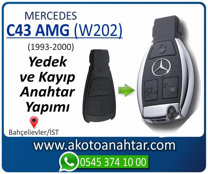 Mercedes C43 AMG W202 Anahtari 1998 1999 2000 - Mercedes C43 AMG (W202) Anahtarı | Yedek ve Kayıp Anahtar Yapımı