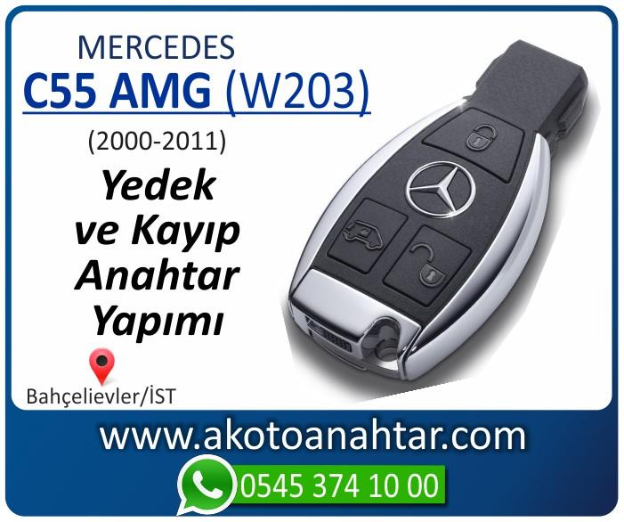 Mercedes C55 AMG W203 Anahtari 2000 2001 2002 2003 2004 2005 2006 2007 2008 2009 2010 2011 - Mercedes C55 AMG (W203) Anahtarı | Yedek ve Kayıp Anahtar Yapımı