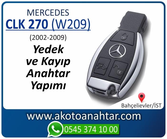 Mercedes CLK270 W209 Anahtari 2002 2003 2004 2005 2006 2007 2008 2009 - Mercedes CLK270 (W209) Anahtarı | Yedek ve Kayıp Anahtar Yapımı