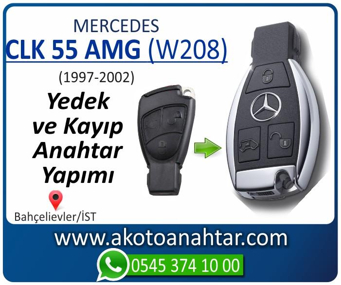Mercedes CLK55 AMG W208 Anahtari 1997 1998 1999 2000 2001 2002 - Mercedes CLK55 AMG (W208) Anahtarı | Yedek ve Kayıp Anahtar Yapımı