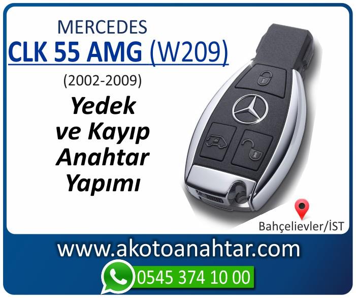 Mercedes CLK55 AMG W209 Anahtari 2002 2003 2004 2005 2006 2007 2008 2009 - Mercedes CLK55 AMG (W209) Anahtarı | Yedek ve Kayıp Anahtar Yapımı
