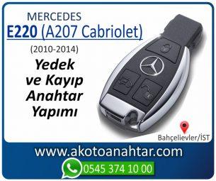 Mercedes E220 (A207 Cabriolet) Araba Oto Otomobil Car Yedek Kayıp Kumanda İmmobilizer Anahtar Anahtarı Çilingir Anahtarcı Acil Kopyalama Kodlama Locksmith Key Bahçelievler İstanbul Kayboldu Dönmüyor Okumuyor Orjinal Kontak Tamir Tamiri Çip