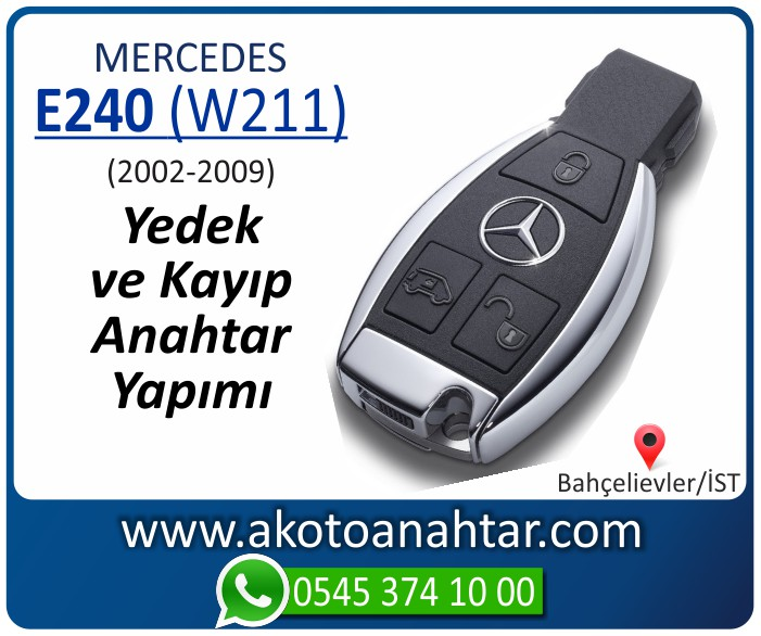 Mercedes E240 W211 Anahtari 2002 2003 2004 2005 2006 2007 2008 2009 - Mercedes E240 (W211) Anahtarı | Yedek ve Kayıp Anahtar Yapımı