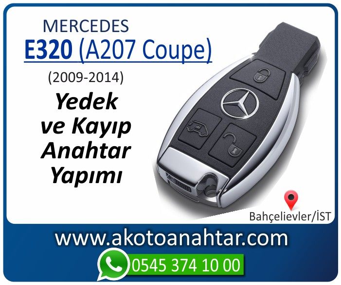 Mercedes E320 A207 Coupe Anahtari 2009 2010 2011 2012 2013 2014 - Mercedes E320 (A207 Coupe) Anahtarı | Yedek ve Kayıp Anahtar Yapımı