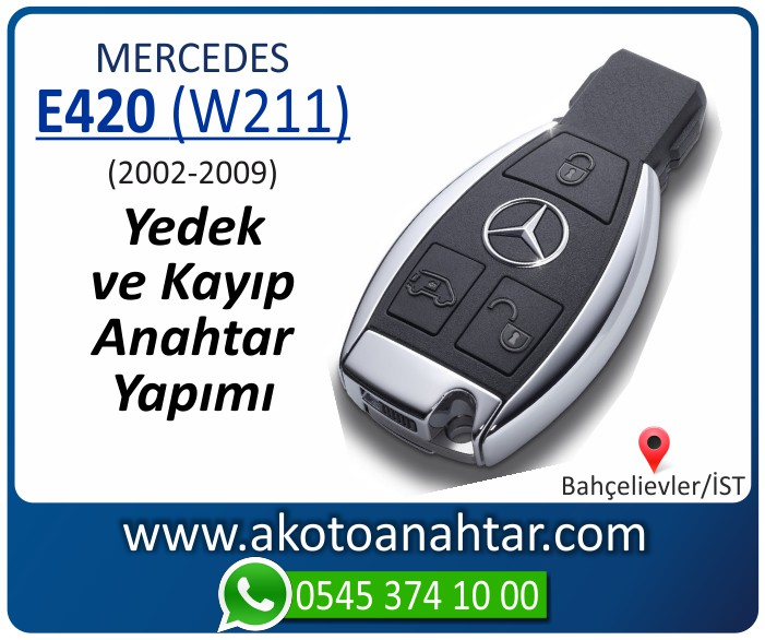 Mercedes E420 W211 Anahtari 2002 2003 2004 2005 2006 2007 2008 2009 - Mercedes E420 (W211) Anahtarı | Yedek ve Kayıp Anahtar Yapımı