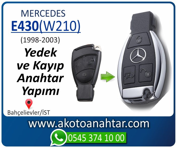 Mercedes E430 W210 Anahtari 1998 1999 2000 2001 2002 2003 - Mercedes E430 (W210) Anahtarı   Yedek ve Kayıp Anahtar Yapımı