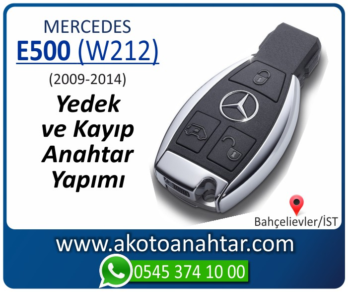 Mercedes E500 W212 Anahtari 2009 2010 2011 2012 2013 2014 - Mercedes E500 (W212) Anahtarı | Yedek ve Kayıp Anahtar Yapımı