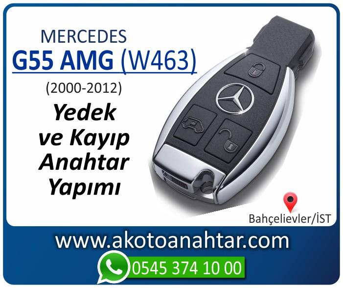 Mercedes G55 AMG W463 Anahtari 2000 2001 2002 2003 2004 2005 2006 2007 2008 2009 2010 2011 2012 - Mercedes G55 AMG (W463) Anahtarı | Yedek ve Kayıp Anahtar Yapımı