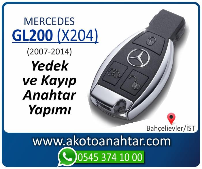 Mercedes GL200 X204 Anahtari 2007 2008 2009 2010 2011 2012 2013 2014 - Mercedes GL200 (X204) Anahtarı | Yedek ve Kayıp Anahtar Yapımı