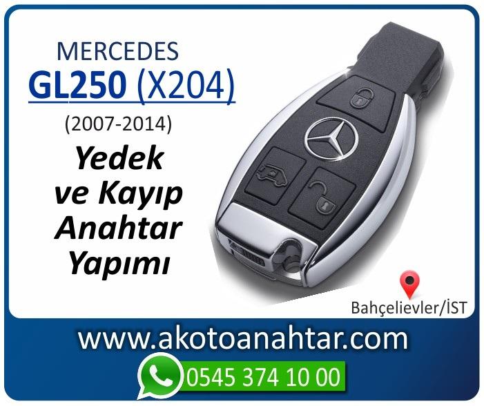 Mercedes GL250 X204 Anahtari 2007 2008 2009 2010 2011 2012 2013 2014 - Mercedes GL250 (X204) Anahtarı | Yedek ve Kayıp Anahtar Yapımı