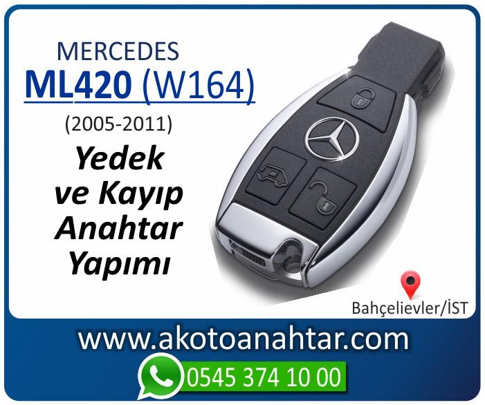 Mercedes ML420 W164 Anahtari 2005 2006 2007 2008 2009 2010 2011 - Mercedes ML420 (W164) Anahtarı | Yedek ve Kayıp Anahtar Yapımı