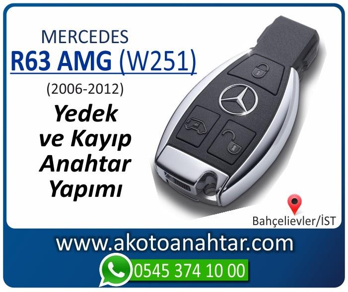 Mercedes R63 AMG W251 Anahtari 2006 2007 2008 2009 2010 2011 2012 - Mercedes R63 AMG (W251) Anahtarı | Yedek ve Kayıp Anahtar Yapımı