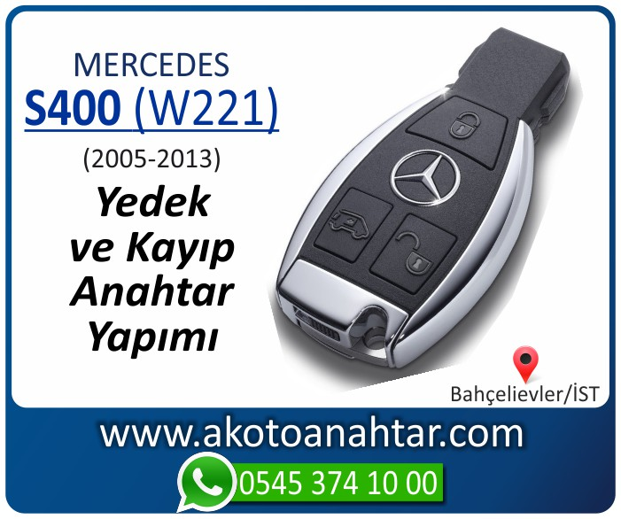 Mercedes S400 W221 Anahtari 2005 2006 2007 2008 2009 2010 2011 2012 2013 - Mercedes S400 (W221) Anahtarı | Yedek ve Kayıp Anahtar Yapımı