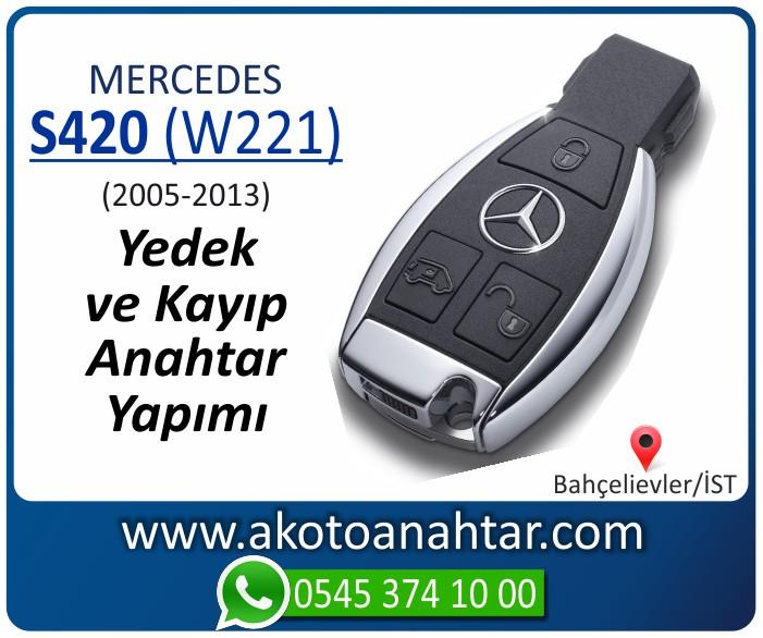 Mercedes S420 W221 Anahtari 2005 2006 2007 2008 2009 2010 2011 2012 2013 - Mercedes S420 (W221) Anahtarı | Yedek ve Kayıp Anahtar Yapımı