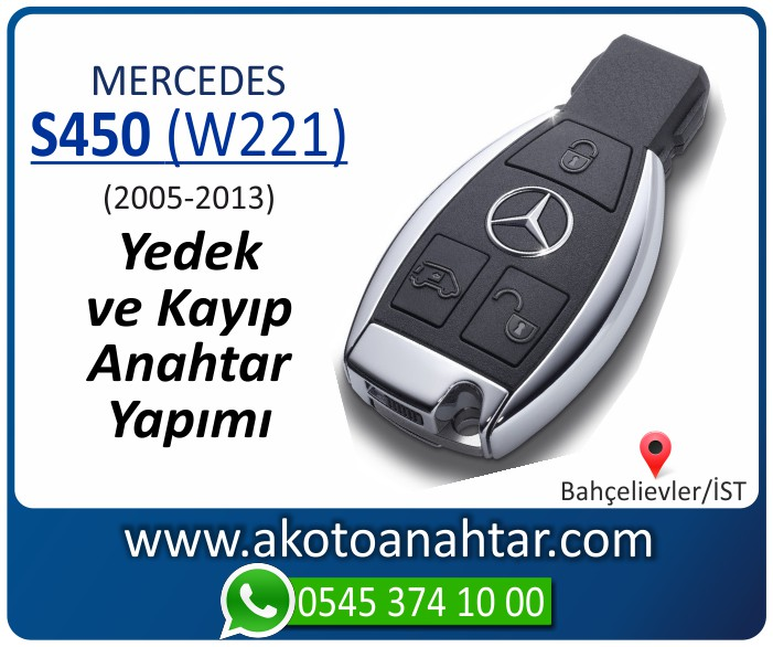 Mercedes S450 W221 Anahtari 2005 2006 2007 2008 2009 2010 2011 2012 2013 - Mercedes S450 (W221) Anahtarı | Yedek ve Kayıp Anahtar Yapımı