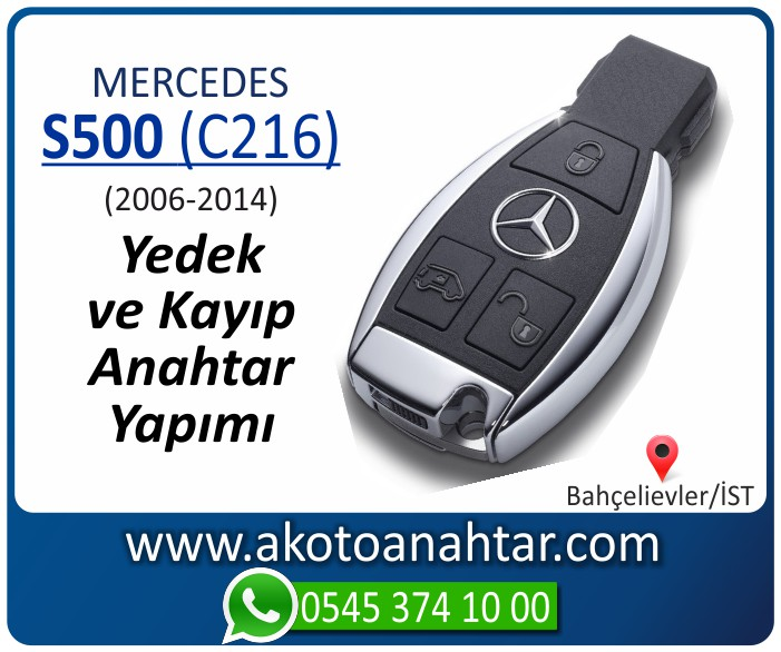 Mercedes S500 C216 Anahtari 2006 2007 2008 2009 2010 2011 2012 2013 2014 - Mercedes S500 (C216) Anahtarı | Yedek ve Kayıp Anahtar Yapımı