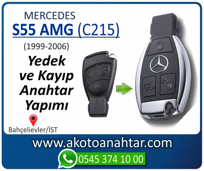 Mercedes S55 AMG C215 Anahtari 1999 2000 2001 2002 2003 2004 2005 2006 - Mercedes S55 AMG (C215) Anahtarı | Yedek ve Kayıp Anahtar Yapımı