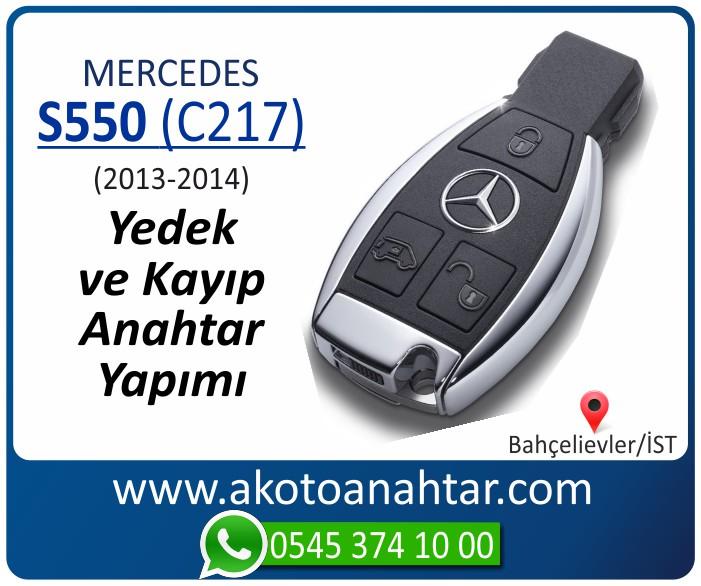 Mercedes S550 C217 Anahtari 2013 2014 - Mercedes S550 (C217) Anahtarı | Yedek ve Kayıp Anahtar Yapımı