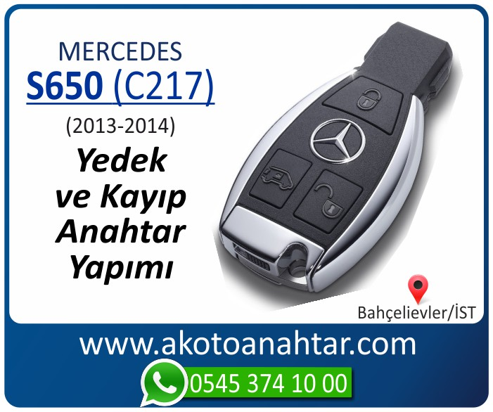 Mercedes S600 C217 Anahtari 2013 2014 - Mercedes S600 (C217) Anahtarı | Yedek ve Kayıp Anahtar Yapımı