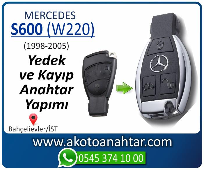 Mercedes S600 W220 Anahtari 1998 1999 2000 2001 2002 2003 2004 2005 - Mercedes S600 (W220) Anahtarı | Yedek ve Kayıp Anahtar Yapımı