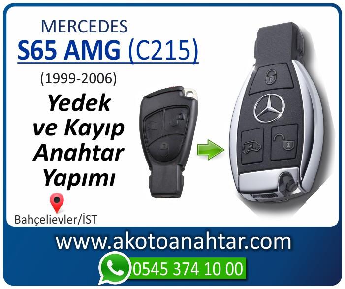 Mercedes S65 AMG C215 Anahtari 1999 2000 2001 2002 2003 2004 2005 2006 - Mercedes S65 AMG (C215) Anahtarı | Yedek ve Kayıp Anahtar Yapımı