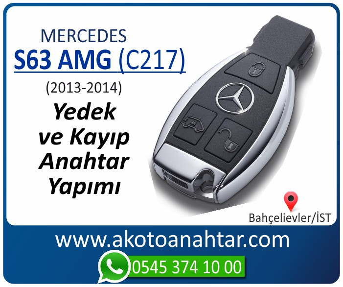 Mercedes S66 AMG C217 Anahtari 2013 2014 - Mercedes S66 AMG (C217) Anahtarı | Yedek ve Kayıp Anahtar Yapımı