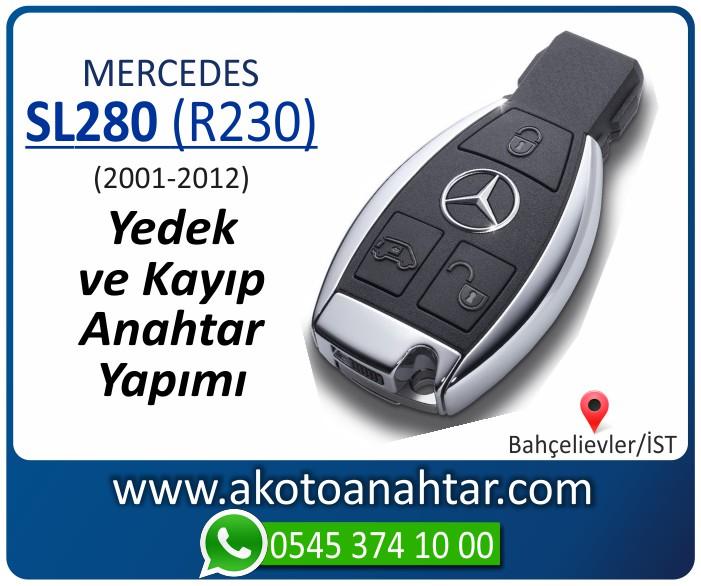 Mercedes SL280 R230 Anahtari 2001 2002 2003 2004 2005 2006 2007 2008 2009 2010 2011 2012 - Mercedes SL280 (R230) Anahtarı | Yedek ve Kayıp Anahtar Yapımı