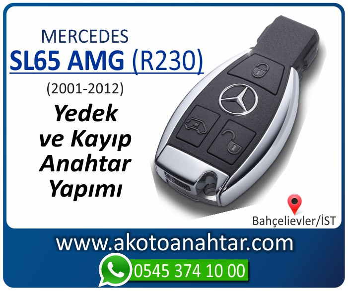 Mercedes SL65 AMG R230 Anahtari 2001 2002 2003 2004 2005 2006 2007 2008 2009 2010 2011 2012 - Mercedes SL65 AMG (R230) Anahtarı | Yedek ve Kayıp Anahtar Yapımı