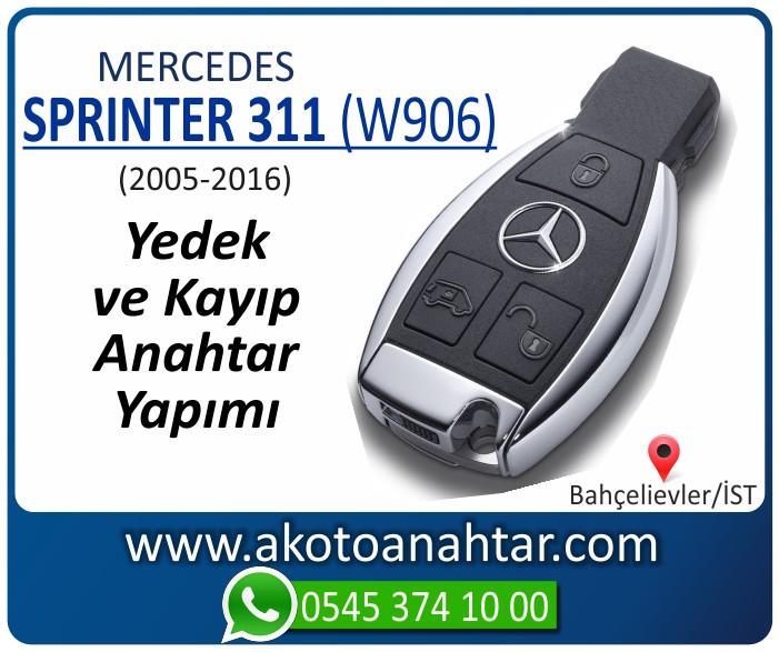 Mercedes Sprinter 311 W906 Anahtari 2005 2006 2007 2008 2009 2010 2011 2012 2013 2014 2015 2016 - Mercedes Sprinter 311 (W906) Anahtarı | Yedek ve Kayıp Anahtar Yapımı