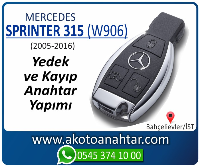 Mercedes Sprinter 315 W906 Anahtari 2005 2006 2007 2008 2009 2010 2011 2012 2013 2014 2015 2016 - Mercedes Sprinter 315 (W906) Anahtarı | Yedek ve Kayıp Anahtar Yapımı
