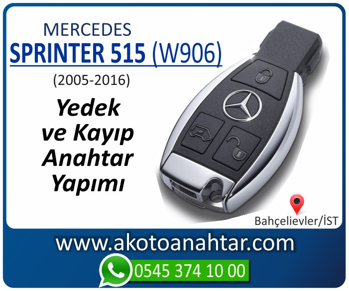 Mercedes Sprinter 515 W906 Anahtari 2005 2006 2007 2008 2009 2010 2011 2012 2013 2014 2015 2016 - Mercedes Sprinter 515 (W906) Anahtarı | Yedek ve Kayıp Anahtar Yapımı
