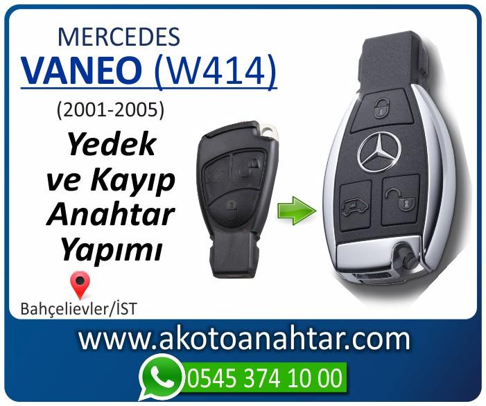 Mercedes Vaneo W414 Anahtari 2001 2002 2003 2004 2005 - Mercedes Vaneo (W414) Anahtarı | Yedek ve Kayıp Anahtar Yapımı