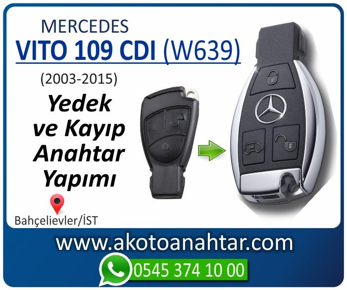 Mercedes Vito 109 CDI W639 Anahtari 2003 2004 2005 2006 2007 2008 2009 2010 2011 2012 2013 2014 2015 - Mercedes Vito 109 CDI (W639) Anahtarı | Yedek ve Kayıp Anahtar Yapımı