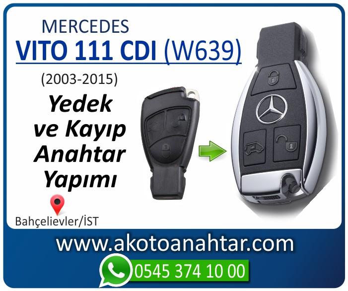 Mercedes Vito 111 CDI W639 Anahtari 2003 2004 2005 2006 2007 2008 2009 2010 2011 2012 2013 2014 2015 - Mercedes Vito 111 CDI (W639) Anahtarı | Yedek ve Kayıp Anahtar Yapımı