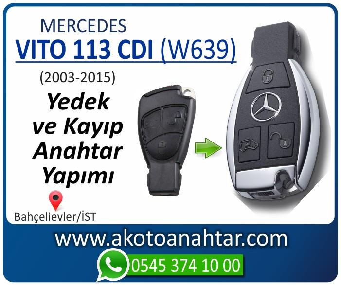 Mercedes Vito 113 CDI W639 Anahtari 2003 2004 2005 2006 2007 2008 2009 2010 2011 2012 2013 2014 2015 - Mercedes Vito 113 CDI (W639) Anahtarı | Yedek ve Kayıp Anahtar Yapımı