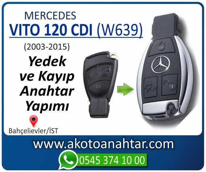 Mercedes Vito 120 CDI W639 Anahtari 2003 2004 2005 2006 2007 2008 2009 2010 2011 2012 2013 2014 2015 - Mercedes Vito 120 CDI (W639) Anahtarı | Yedek ve Kayıp Anahtar Yapımı