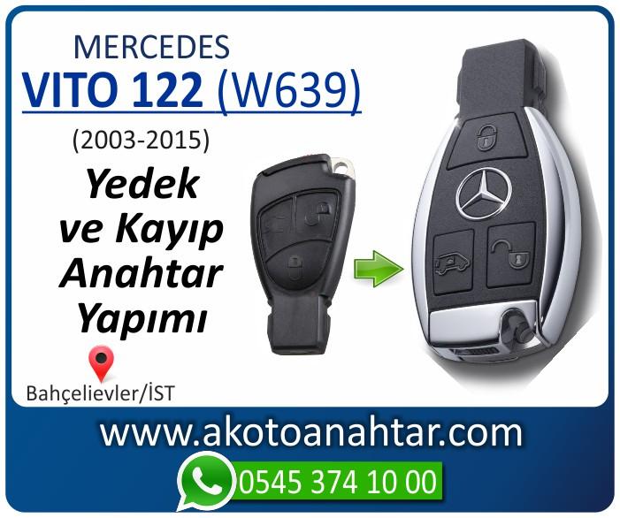 Mercedes Vito 122 W639 Anahtari 2003 2004 2005 2006 2007 2008 2009 2010 2011 2012 2013 2014 2015 - Mercedes Vito 122 (W639) Anahtarı | Yedek ve Kayıp Anahtar Yapımı