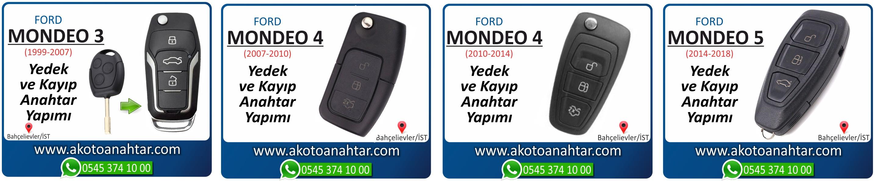 Mondeo anahtari - Ford Mondeo 4 Anahtarı | Yedek ve Kayıp Anahtar Yapımı