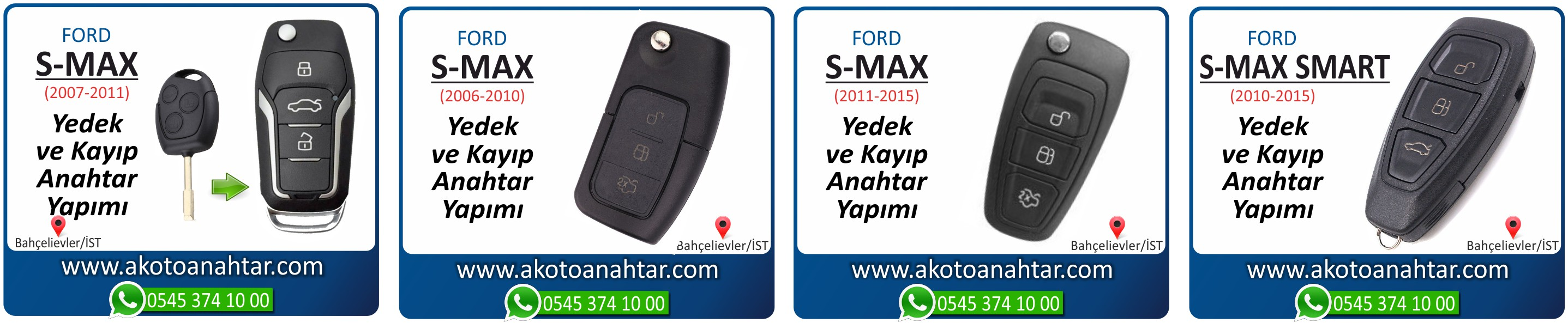 S max smax anahtari - Ford S-Max Anahtarı | Yedek ve Kayıp Anahtar Yapımı