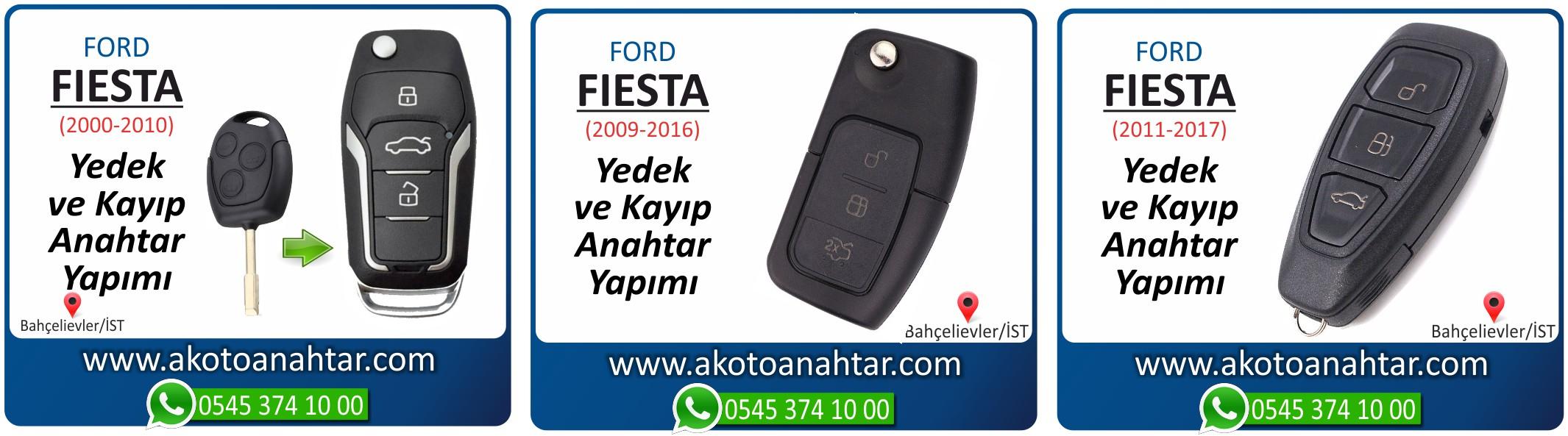 fiesta anahtari - Ford Fiesta Anahtarı | Yedek ve Kayıp Anahtar Yapımı
