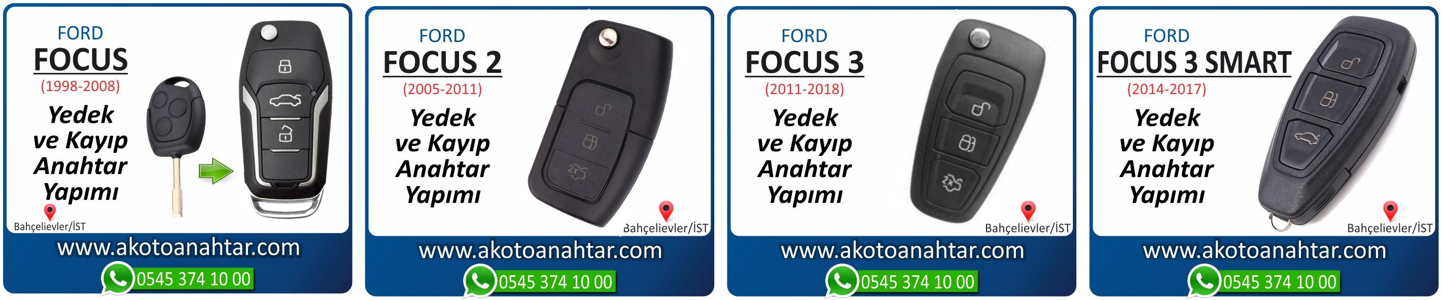 focus anahtari key - Ford Focus Anahtarı | Yedek ve Kayıp Anahtar Yapımı