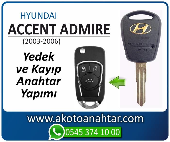 hyundai accent admire anahtari anahtar key yedek yaptirma fiyati kopyalama cogaltma kayip 2003 2004 2005 2006 model - Hyundai Accent Admire Anahtarı | Yedek ve Kayıp Anahtar Yapımı