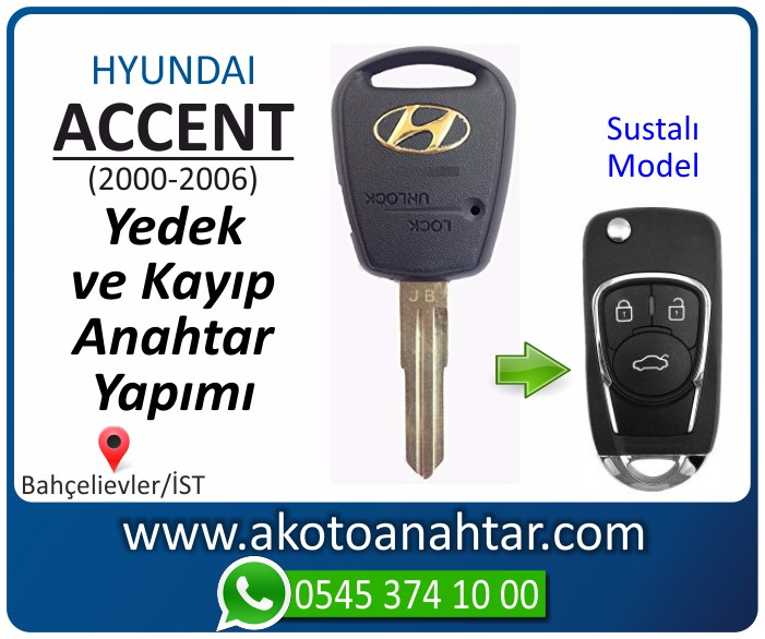 hyundai accent anahtari anahtar key yedek yaptirma fiyati kopyalama cogaltma kayip 2000 2001 2002 2003 2004 2005 2006 model - Hyundai Accent Anahtarı | Yedek ve Kayıp Anahtar Yapımı