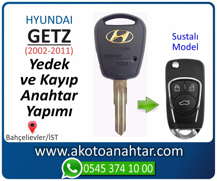 hyundai getz anahtari anahtar key yedek yaptirma fiyati kopyalama cogaltma kayip 2002 2003 2004 2005 2006 2007 2008 2009 2010 2011 model - Hyundai Getz Anahtarı | Yedek ve Kayıp Anahtar Yapımı